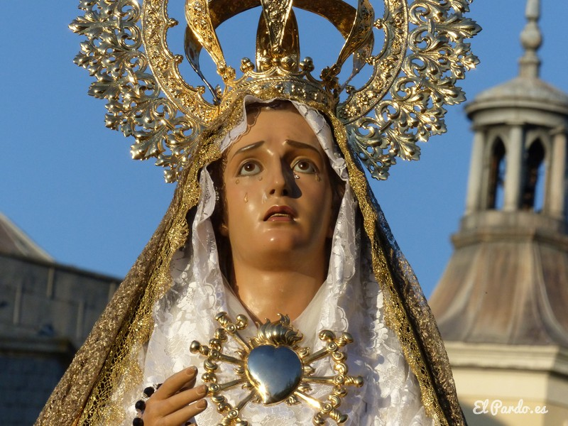 Procesión de El Pardo. Virgen Dolorosa