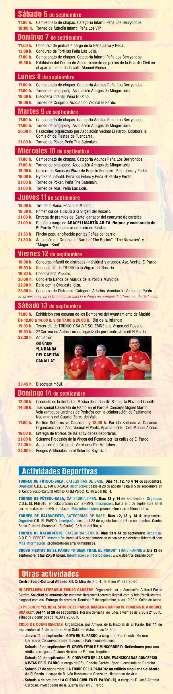 Programa de las Fiestas de El Pardo 2014