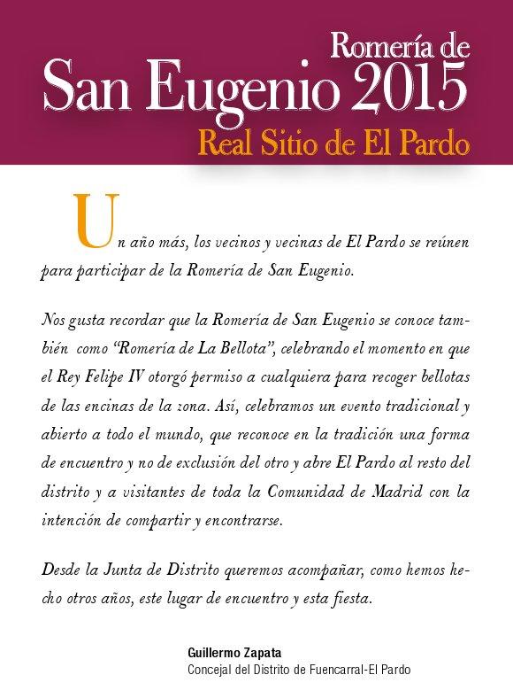 Presentación de la Romería de San Eugenio 2015